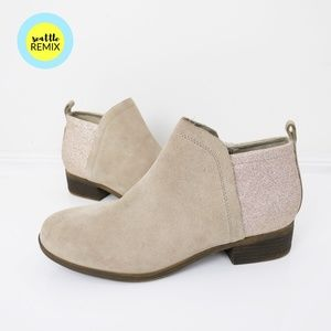 toms ∙ deia glitter suede ankle boots